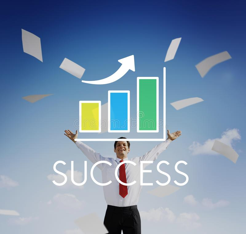Success Increasing Bar Chart Concept stock image