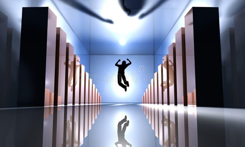 Success Jump vector illustration