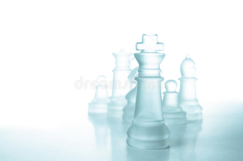 Download Success And Leadership Concept, Glass Chess King Stock Photo - Image of pawn, business: 28364224