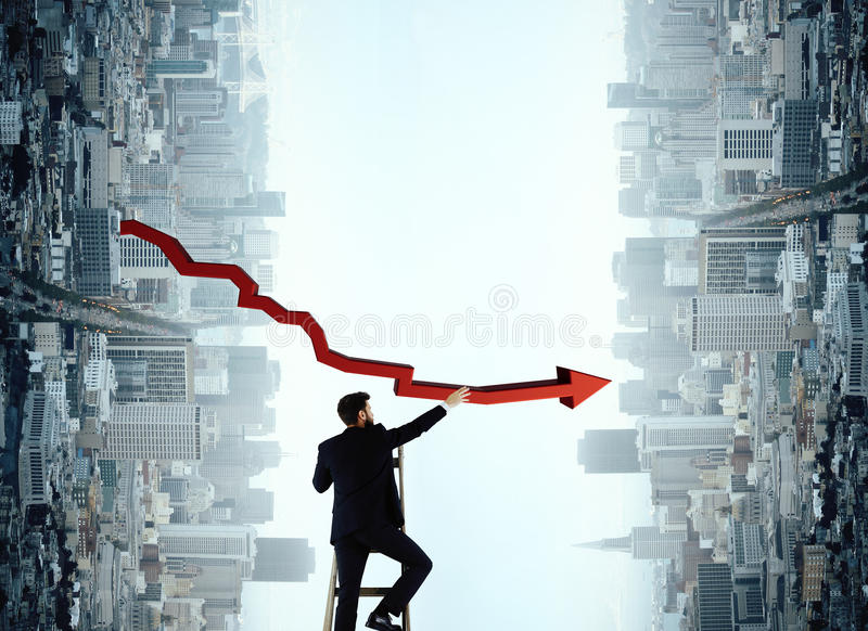 Success, leadership and financial growth concept stock photos