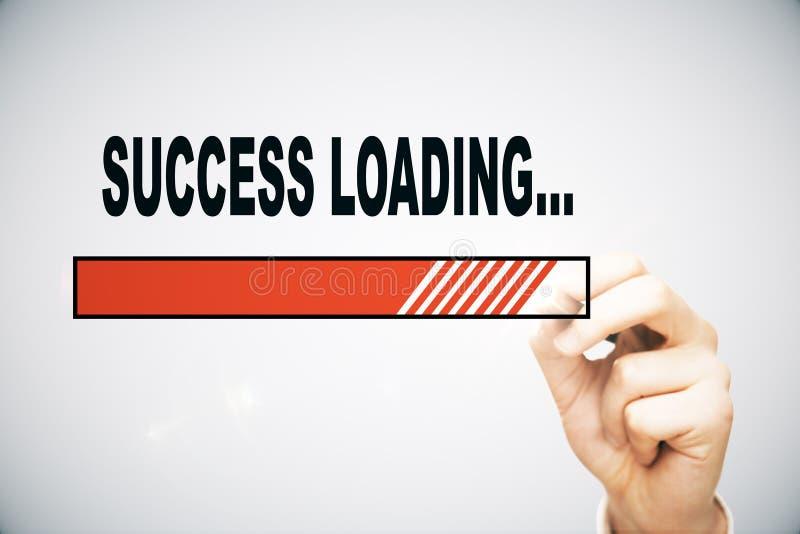 Success loading royalty free illustration