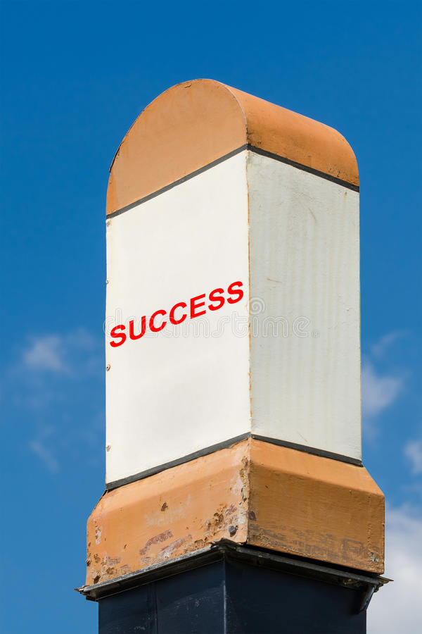 Success Milestone. Concept On A Blue Sky Background stock image