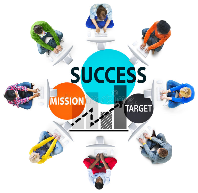 Success Mission Target Business Growth Planning Concept stock photos