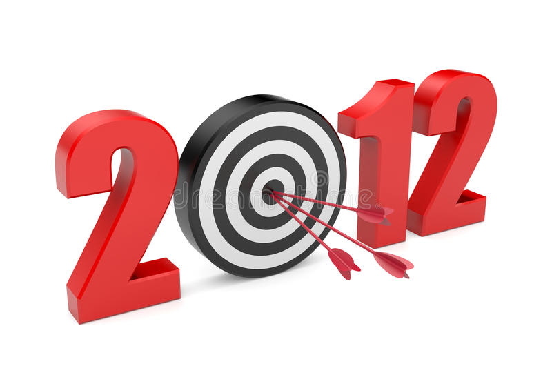 Success in new year royalty free illustration