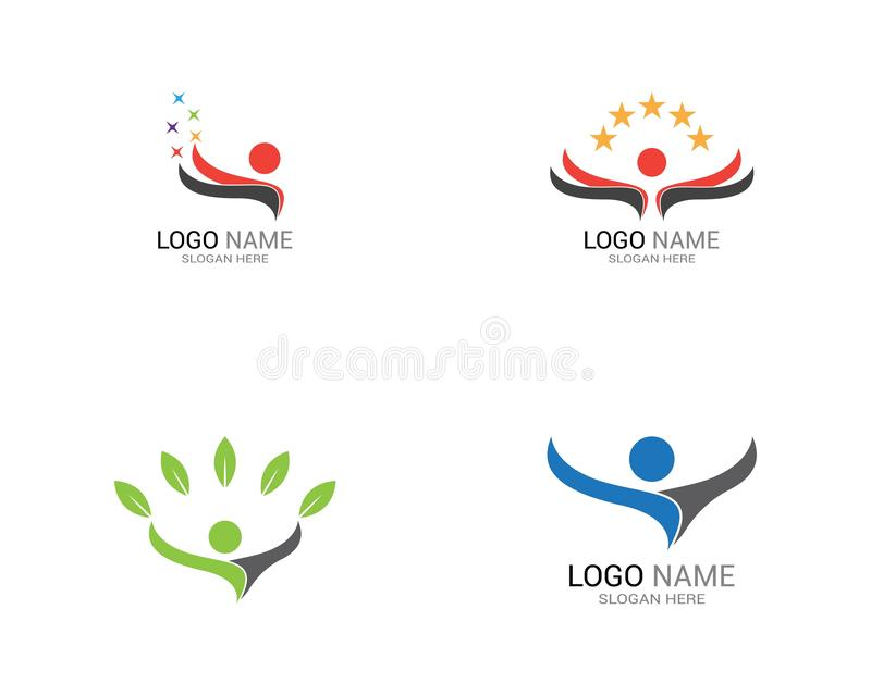 Success people logo template royalty free stock photos