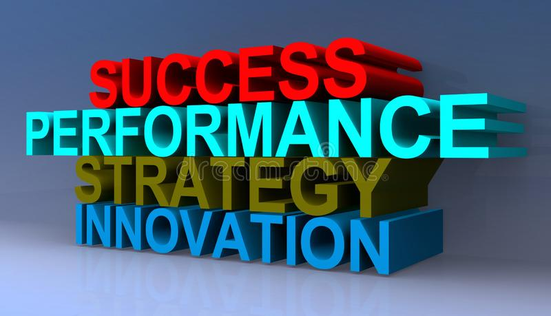 Success, performance, strategy, innovation vector illustration