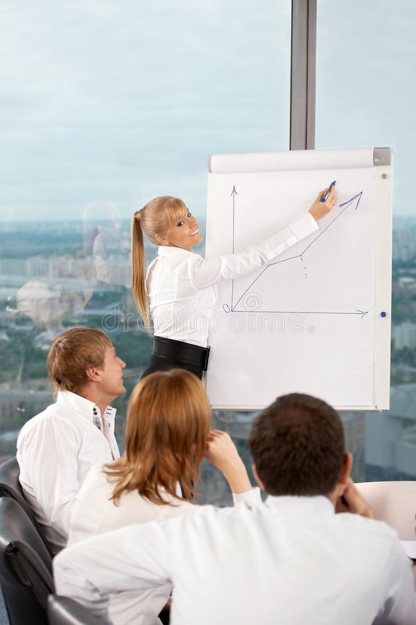 Success presentation royalty free stock image