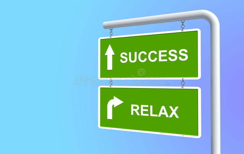 Download Success and relax stock illustration. Image of plate - 22769115