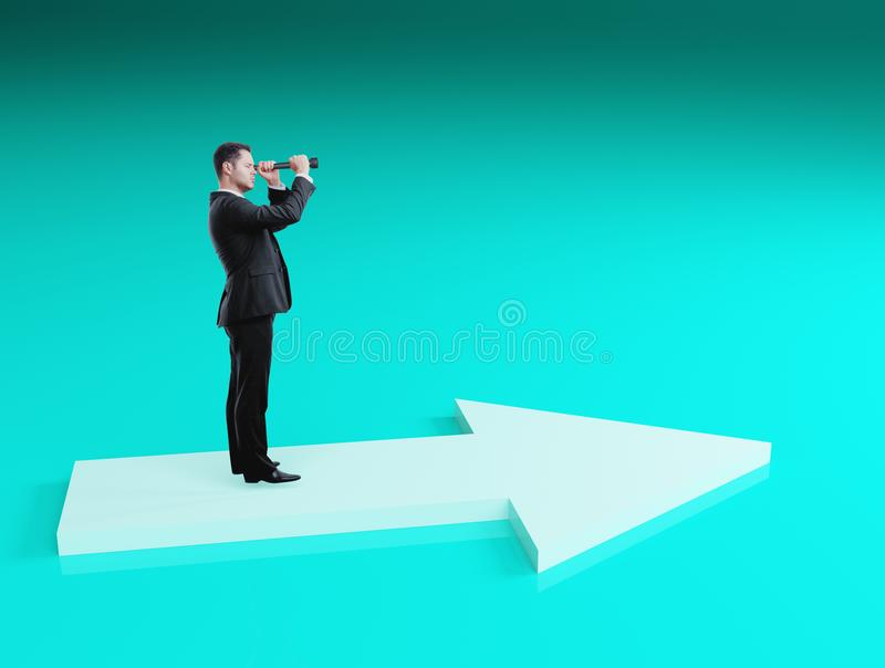 Success and research concept royalty free stock photography