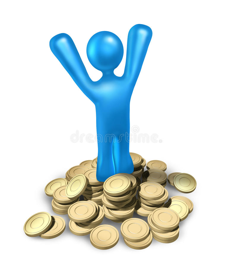 Download Success rich investing stock illustration. Illustration of savings - 14070500