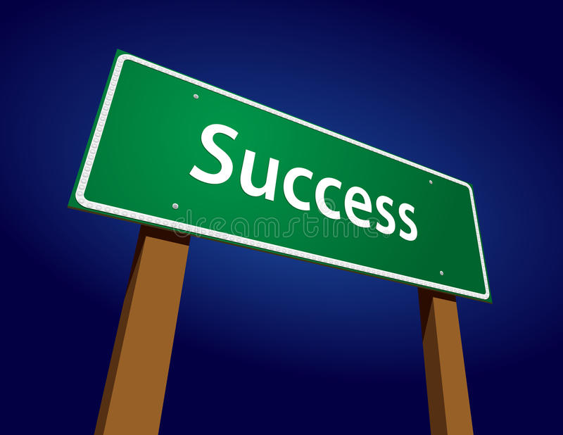 Success Road Sign Illustration stock photo