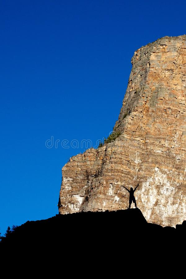 Download Success Silhouette 1 stock image. Image of rocky, landscape - 27716209