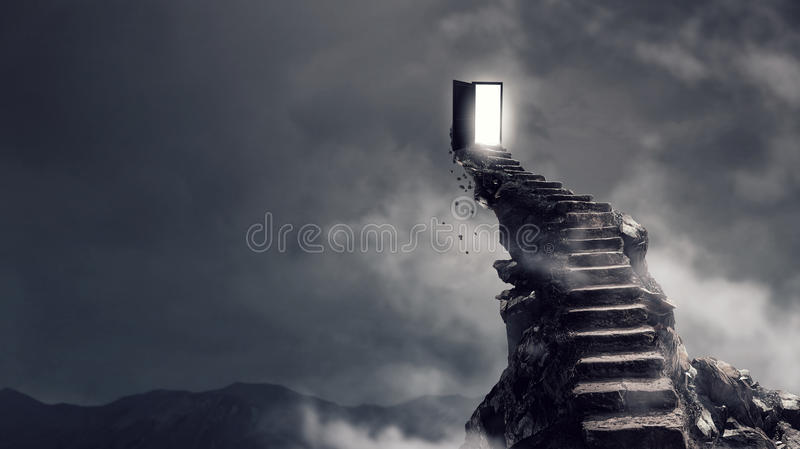Success and spirituality concept royalty free stock image