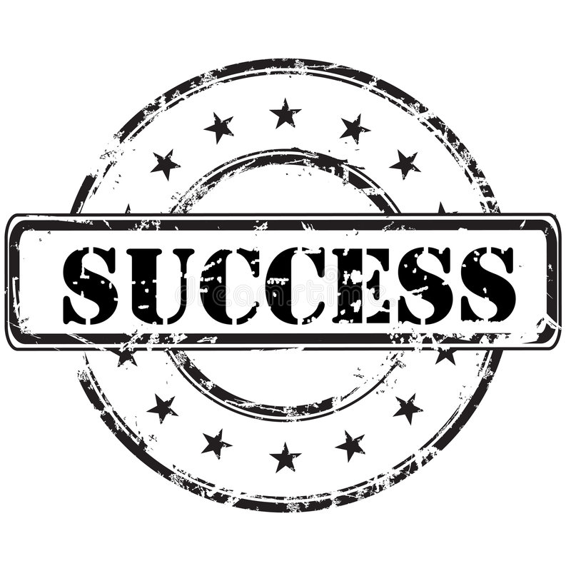Success stamp royalty free illustration