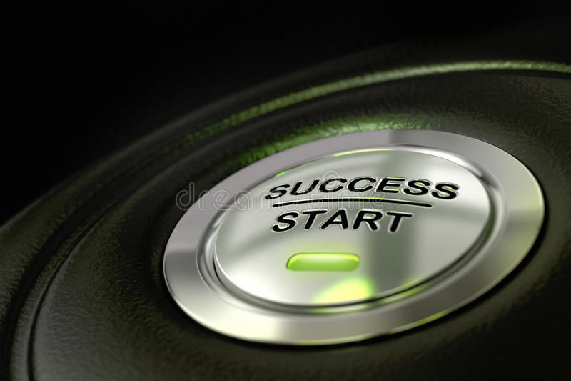 Download Success Start Button Successful Concept Stock Illustration - Illustration: 24711124