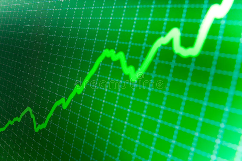 SUCCESS. Stock market graphs on the screen royalty free illustration