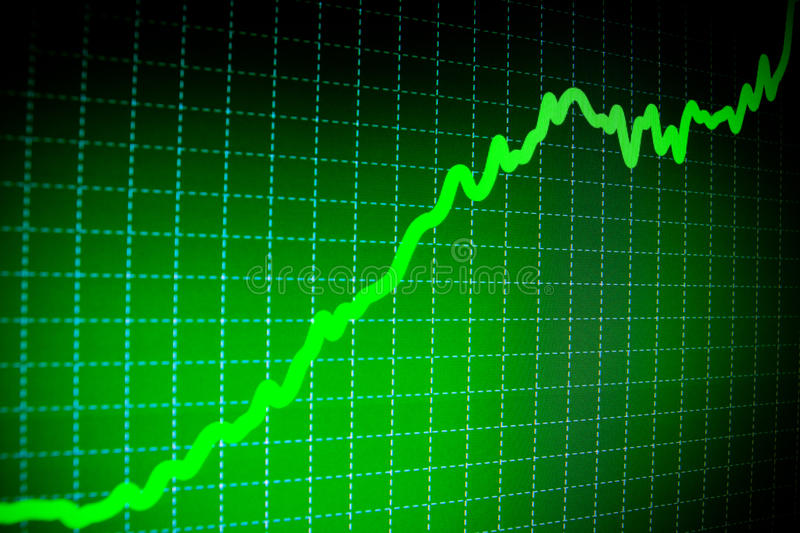 Download SUCCESS.  Stock Market Graphs On The Screen Stock Illustration - Image: 12364484