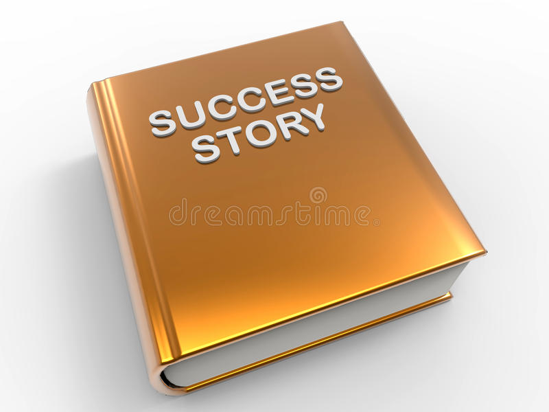 Success story book royalty free illustration
