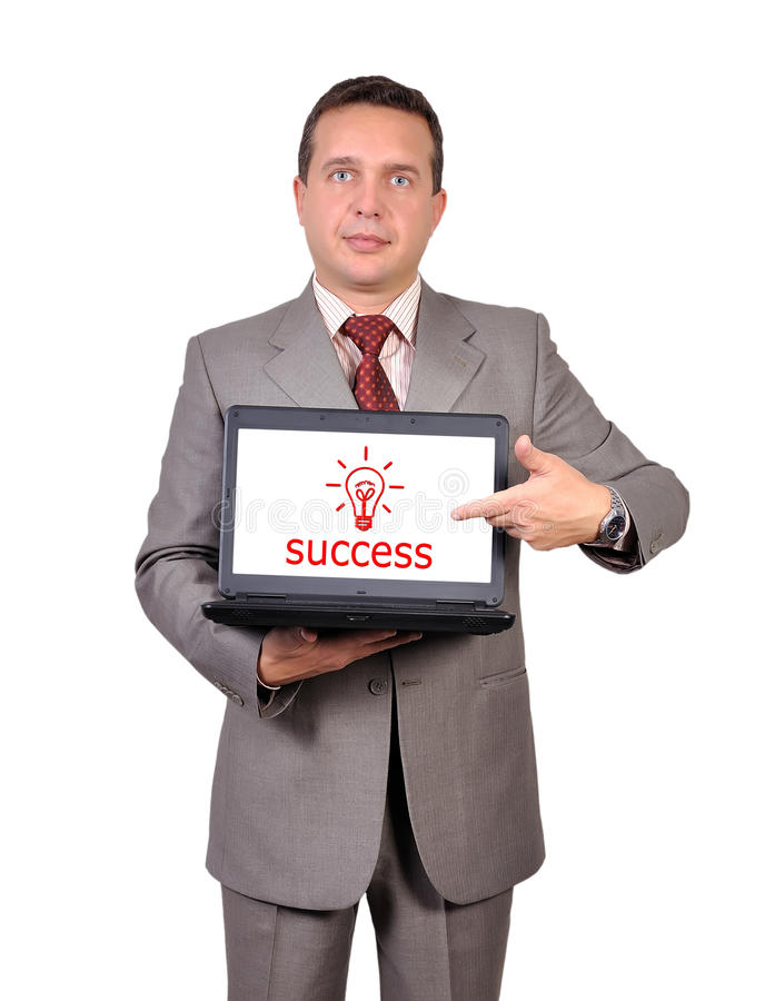 Download Success symbol on laptop stock photo. Image of creative - 27918034