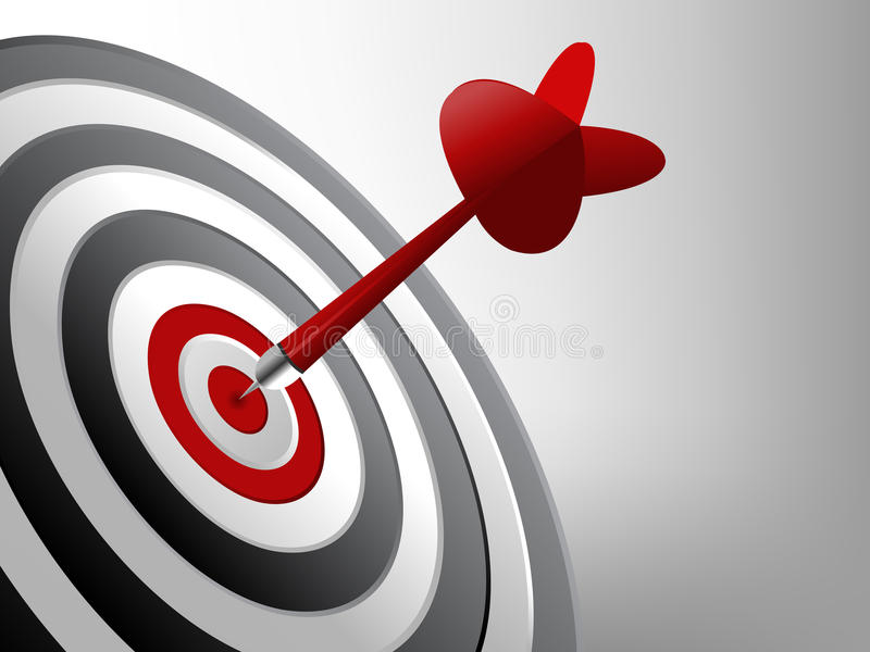 Success Target. Dart on the target, Successful and focus concept vector illustration