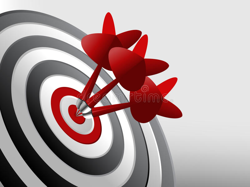 Download Success Target stock vector. Image of focus, focused - 12941213
