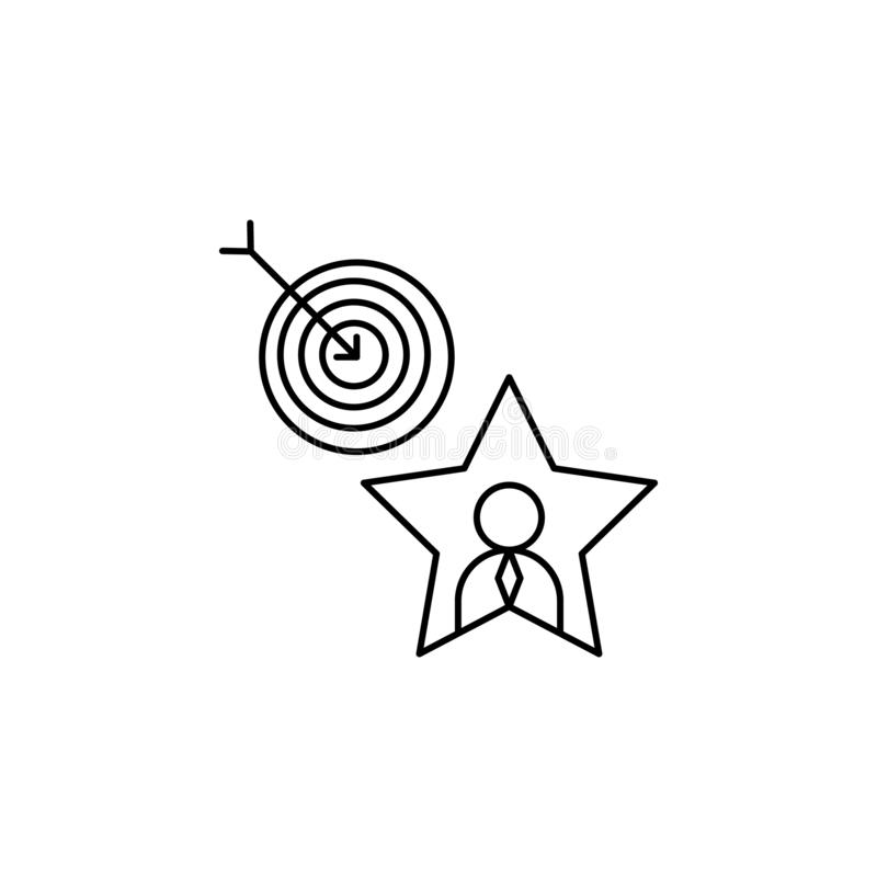 Success, target, goal, star icon. Element of life coach icon stock illustration