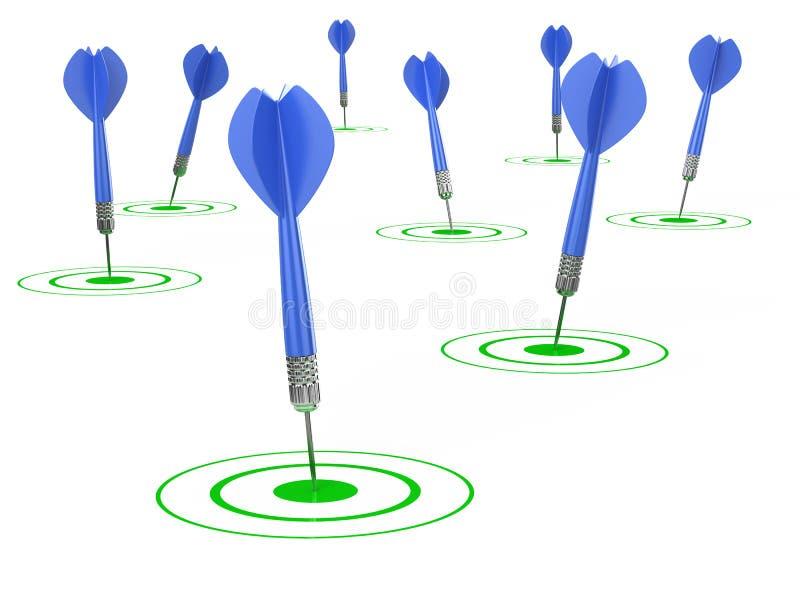 Download Success targets stock illustration. Illustration of market - 25392505