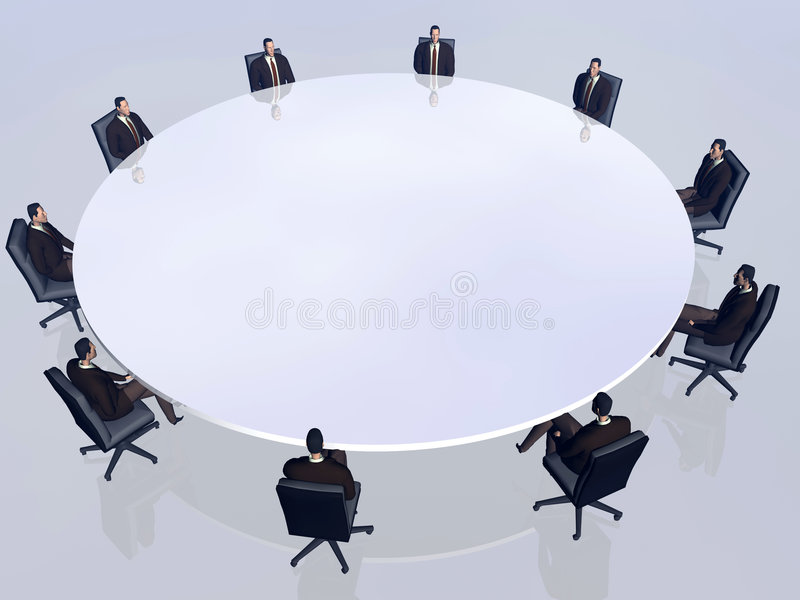 The success team in conference. royalty free illustration