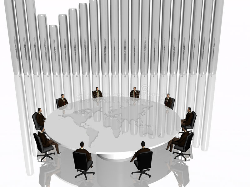 The success team in meeting. royalty free illustration