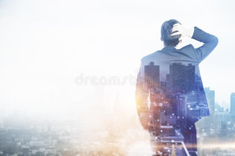 Success and think concept. royalty free stock images