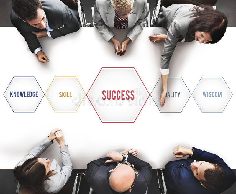Success Training Development Geometric Forms Graphic Concept. Success Training Development Geometric Forms Graphic stock image