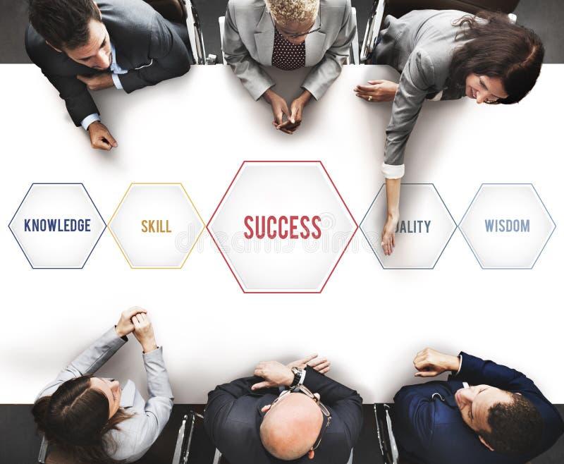 Success Training Development Geometric Forms Graphic Concept stock image