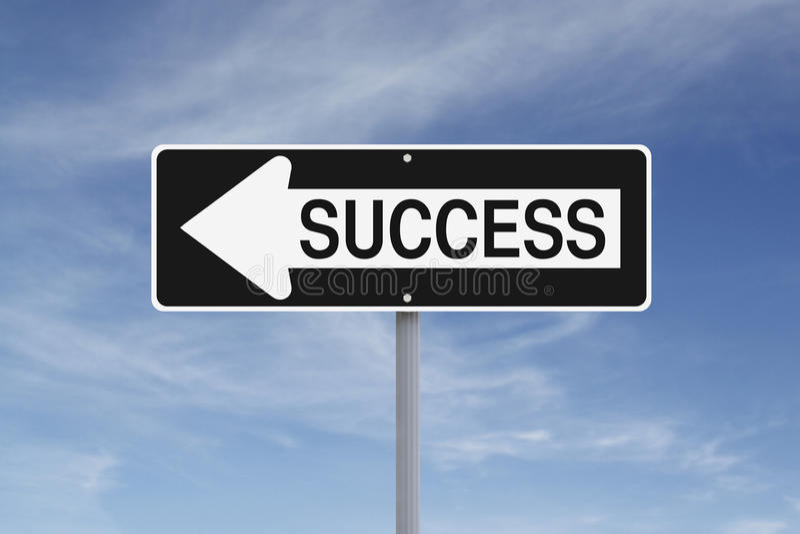 Success This Way royalty free stock photo
