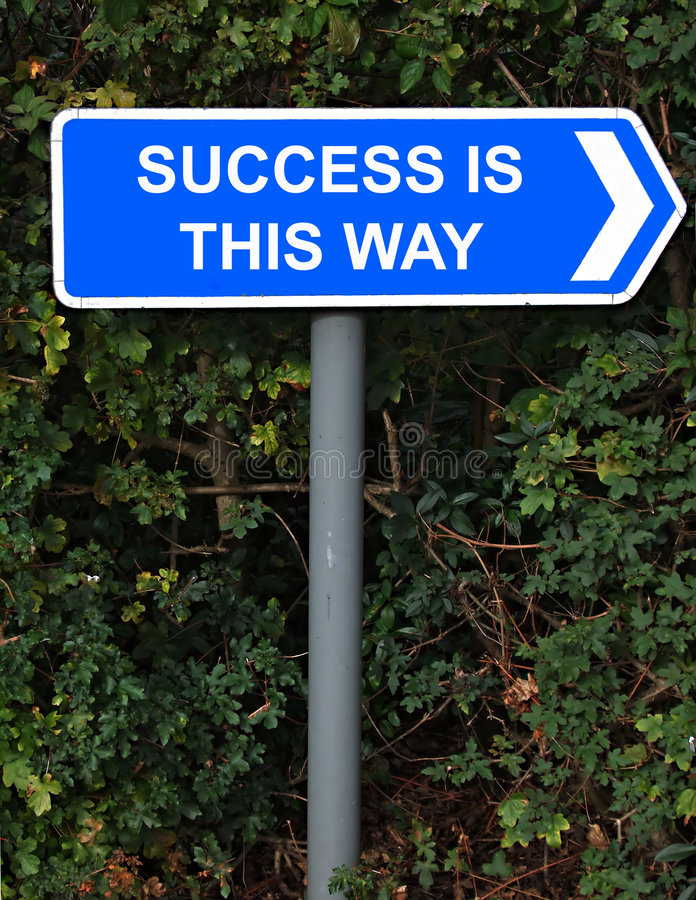 Success is this way sign stock photography