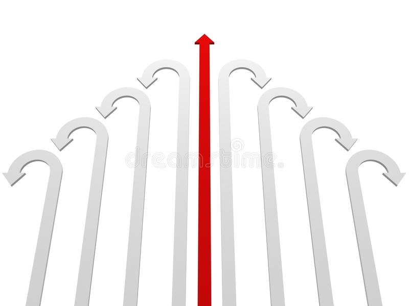 Success Winner Red Leader Arrow In White Group Stock Photos