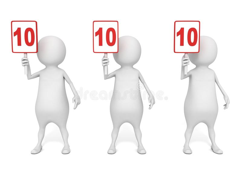 Download Success Winning Competition Evaluation Of 3d Man Jury Stock Illustration - Image: 31826380