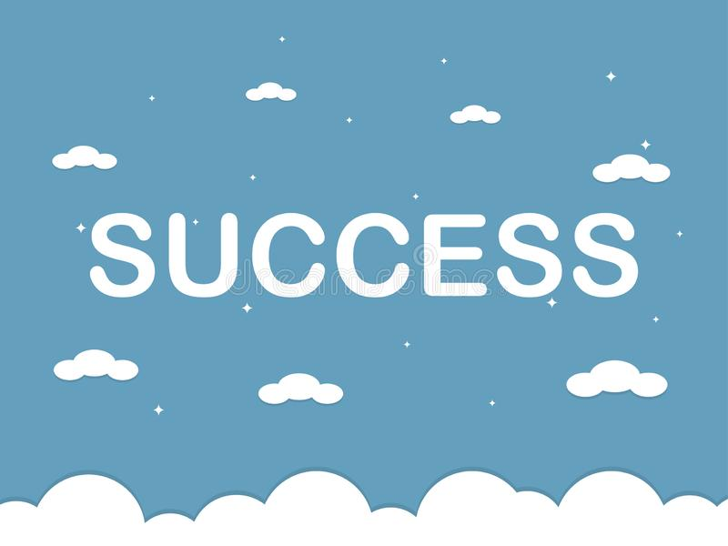 Success word on blue sky. Vector illustration vector illustration