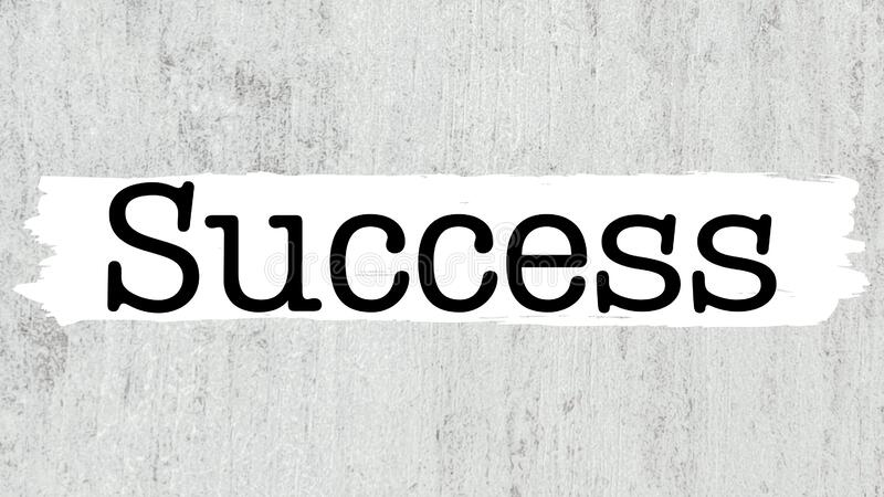 Success word business coach royalty free stock photo