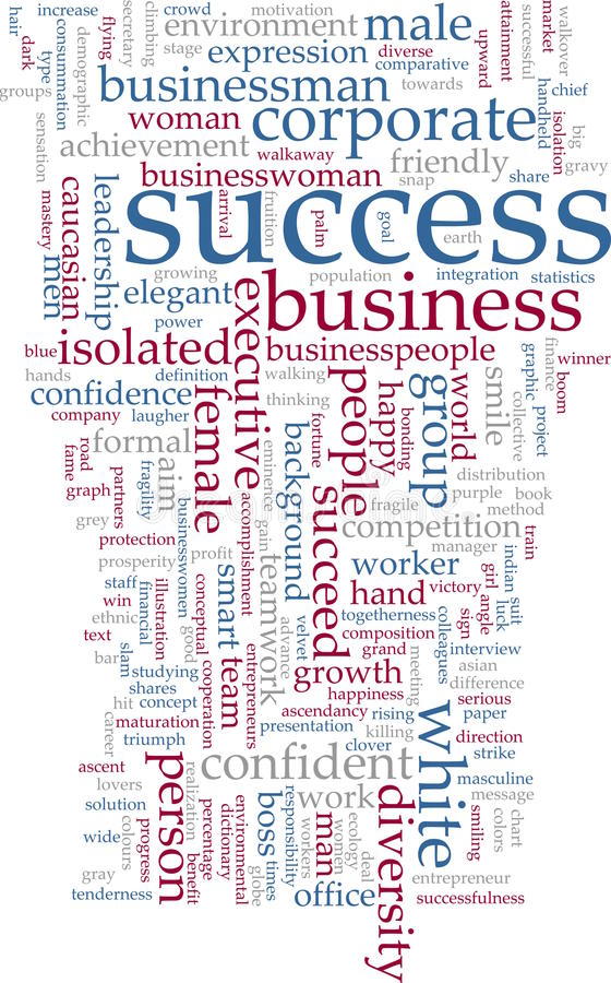 Success word cloud stock illustration