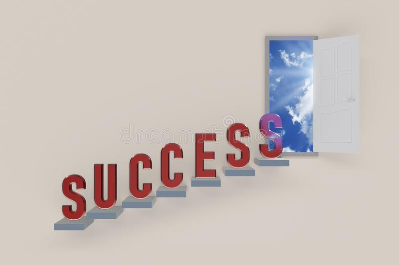 Way to success royalty free illustration