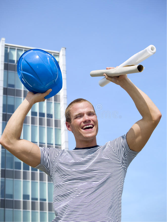 Download Successful stock photo. Image of engineering, male, cheer - 18667816