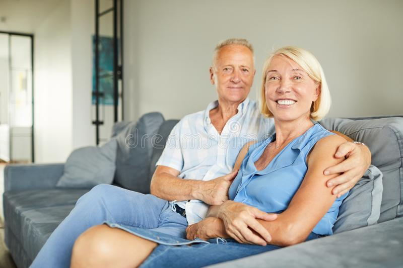 Successful Adult Couple Posing royalty free stock image