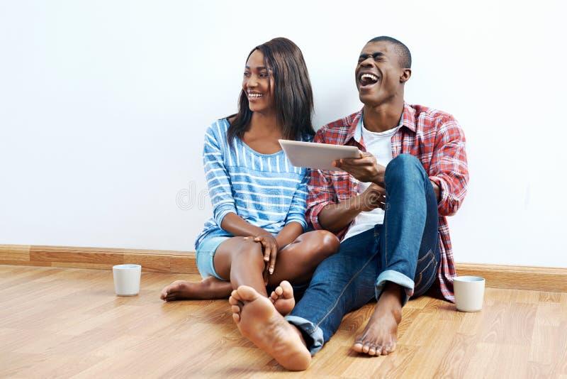 Successful african couple stock photos