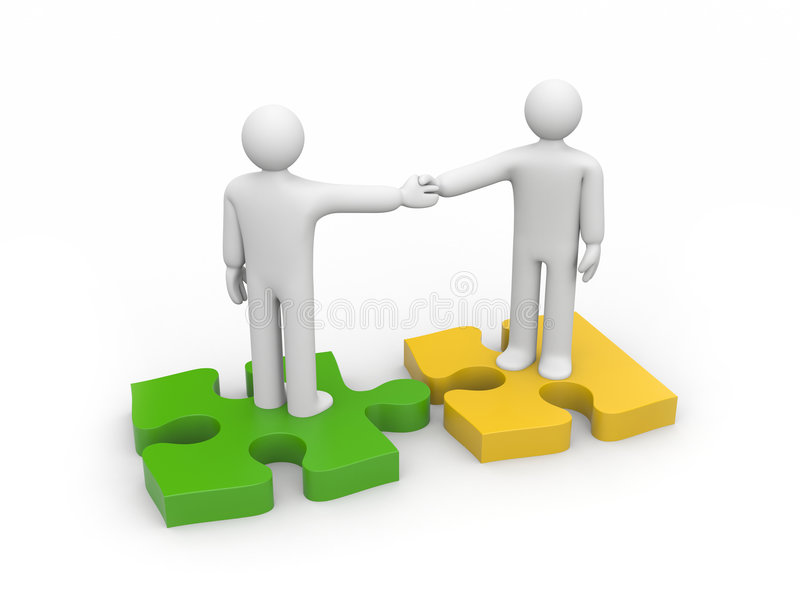 The successful agreement stock illustration