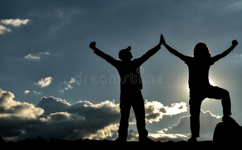 Successful,ambitious and determined people royalty free stock photos