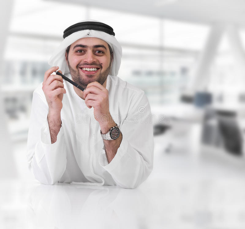 Successful arabian businessman / executive stock image