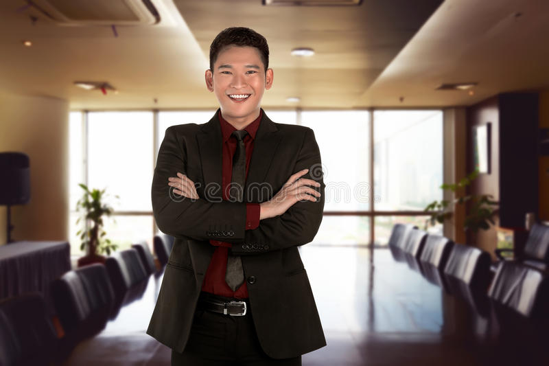 Successful asian business person. Image of successful asian business person in the office stock photos