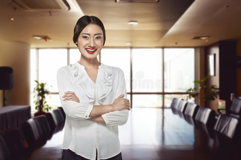 Successful asian business person. Image of successful asian business person in the office royalty free stock photo