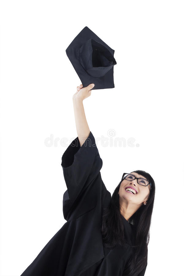 Successful Bachelor Throwing Cap Stock Image - Image of indian ...