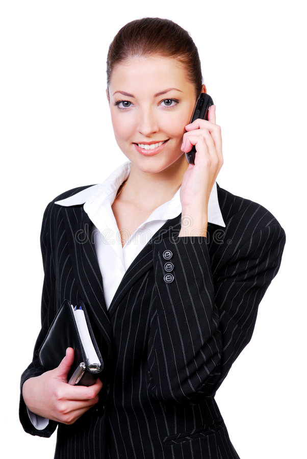 Successful beautiful businesswoman. Portrait of a young successful beautiful businesswoman royalty free stock photos
